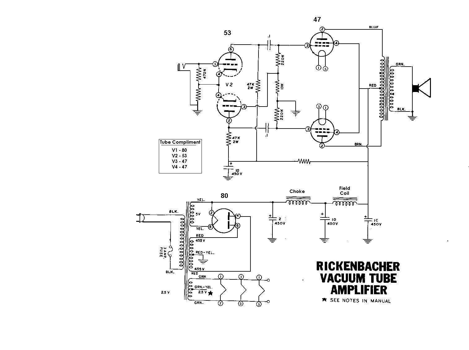 rickenbacher electro model b schematic